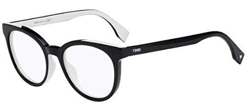 FENDI Damen Kunststoff Brille FF0159 TLN Schwarz, Rund (50-19-140)