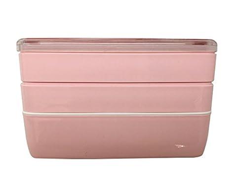 Lunch Box/Bento Box,Brotdose,MACDIAZ Japanische Bento Lunch Box,Mikrowellen Lunchboxen FÜR Erwachsene Kinder,Mit Besteck,Mittagessen Box, 3 Ebenen (Food Grade Pvc-material)