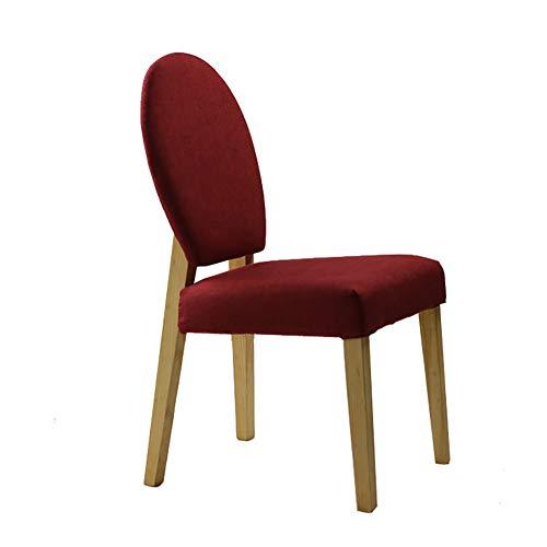 Esszimmerstühle YXX Gepolsterter speisender seitlicher Stuhl mit den hölzernen Beinen, moderner...