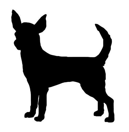 Autoaufkleber 9,5 * 8,9 CM Chihuahua Hund Vinyl Aufkleber Nette Auto Aufkleber Motorrad Auto Schwanz Styling Dekoration 2 Stück (Motorrad-schwanz-net)