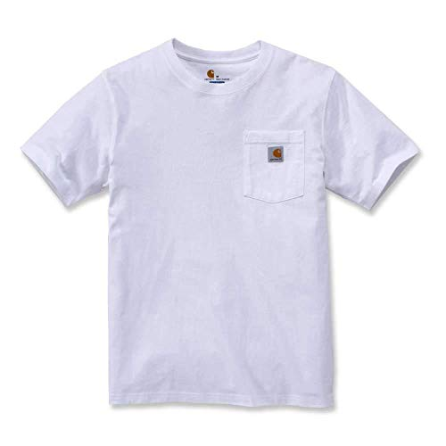 Carhartt Mens Workw Pocket Short Sleeve Cotton T Shirt Tee - Tagless Crewneck Tee