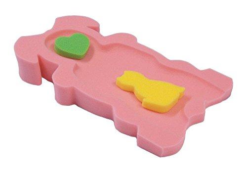 Colchón de esponja para la bañera, para bebés y niños de más de 6 kg y hasta 65 cm de altura rosa rosa