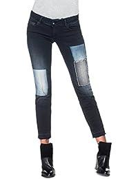 Salsa - Pantalon push up Shape Up avec effet patchs - Femme