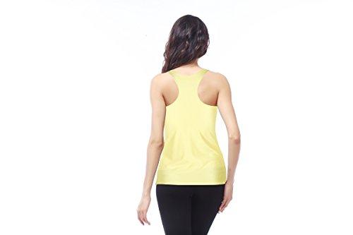 THENICE Damen Reizvolle dünne Muskelshirt ärmellos T-Shirt Weste Banana Lips