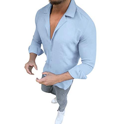 DNOQN Running Shirt Herren T Shirt Lange ärmel Herren Fahrer Kreuzfarbe Revers Langarm Mode Freizeithemd Top Bluse XXXL