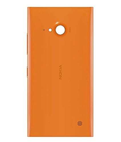 BringMeAll Nokia Lumia 730 Dual Sim Battery Back Panel Housing Body Back Cover with NFC, Power and Volume Buttons Orange