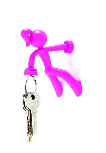 Peleg Design PE375 Schlüsselhalter Key Petite, magnetisch, Kunststoff, 8 x 7 x 6 cm, pink