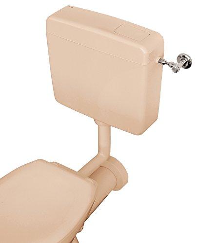 Spülkasten Opal | Kunststoff Spül-Stopp-Funktion 6-9 Liter Tiefspülkasten WC, Toilette Beige