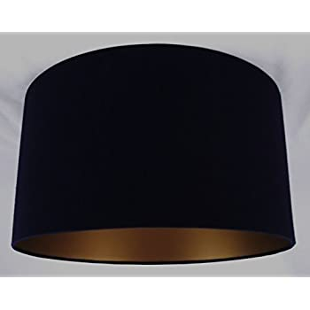 19 lampshade handmade in uk black linen with a gold lining 19 lampshade handmade in uk black linen with a gold lining aloadofball Image collections