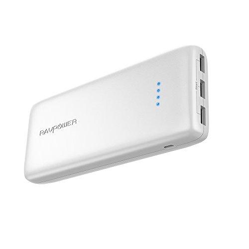 RAVPower 22000mAh Powerbank, Externer Akku mit 3 USB-Anschlüssen und 5,8A max. Ausgang für iPhone 8 / iPhone 8 Plus / iPhone X, iPad, Galaxy S8 / S8 Plus und andere Smartphone, Tablet usw, Rot (Flugzeug Ladegerät Ipad)