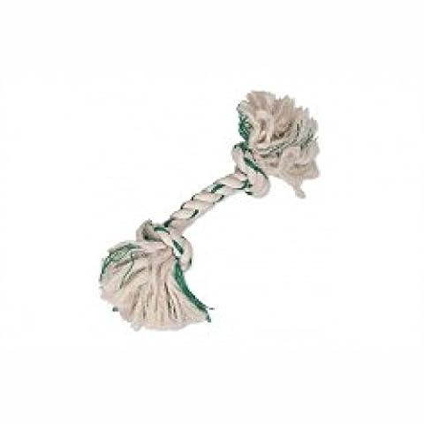 Fresh 'N Floss 2Knot Bone Spearmint Dog Toy in Green Size: Medium (10.16cm L x 7.62cm W x 27.94cm