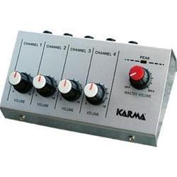 MX 2004 mini mixer microfonico con 4 ingressi jack per live, karaoke ecc. - 4 Canali Mini Mixer