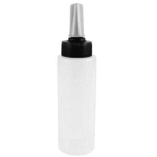 sourcingmap 150mL capacité Shampooing Presser Aiguille Bouteille En Plastique Transparent Cap w