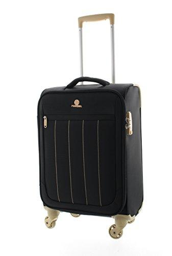 Pianeta-Galaxy-Valise-Bagage-Valise--roulette-Sac-de-voyage-Bagage--main-Noir-XL