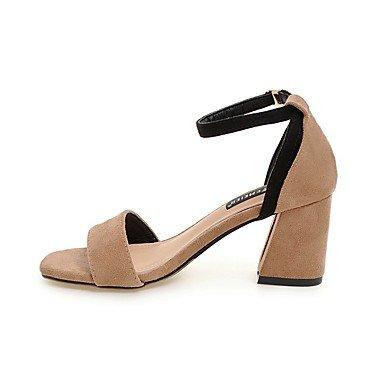 LvYuan Da donna Sandali Cinturino alla caviglia Finta pelle Estate Casual Formale Cinturino alla caviglia Nero Marrone chiaro 7,5 - 9,5 cm light brown