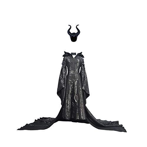 Angelina Jolie Kostüm, Motiv: Evil Fairy - Schwarz - XX-Small