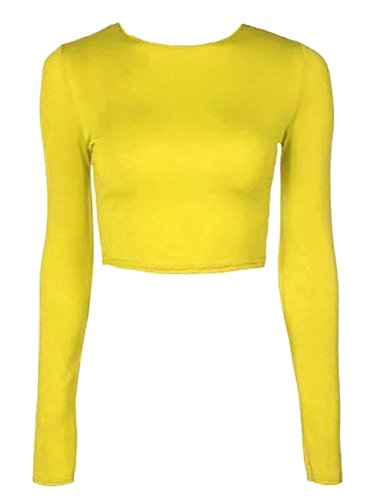 The Celebrity Fashion -  Maglia a manica lunga  - Donna Giallo