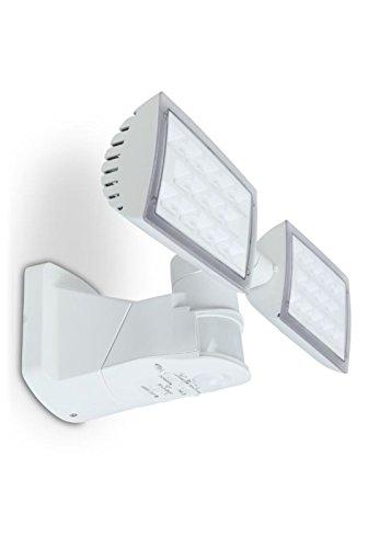 LED Außenleuchte Wandlampe Bewegungsmelder Flutlicht Sicherheitsleuchte Eco-Light Lutec Peri 6294-PIR-5K WH