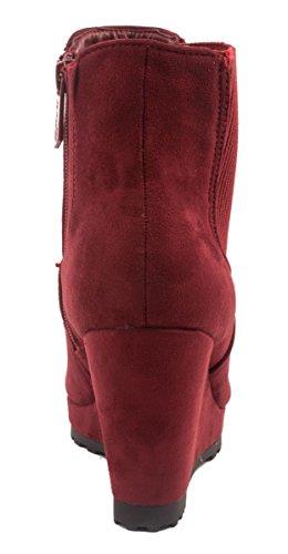 Elara , chaussures compensées femme Rouge