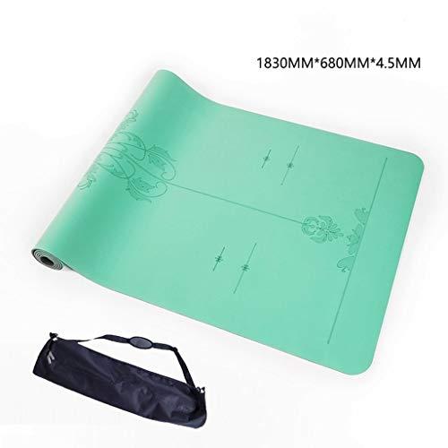 YDS SHOP Yogamatte, 15mm Dicke Übungs-Eignungs-Übungs-Stuhl-Behandlung Pilates Camping Gym (Color : #2, Size : 4mm)