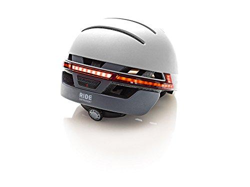 Livall Fahrradhelm BH51T mit Rücklicht, Blinker und SOS-System (grau) - 2