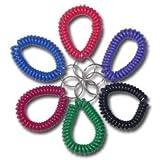 Spiralarmband - Regenbogenfarben - Wrist Coil ? schwarz