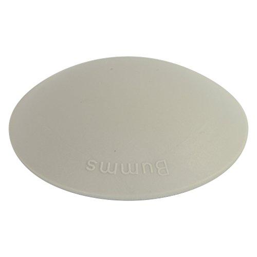 Türstopper Bumms Türpuffer Wandpuffer selbstklebend und schraubbar für Wand und Boden 60mm by parkett-werk (grau, 3 Stück)