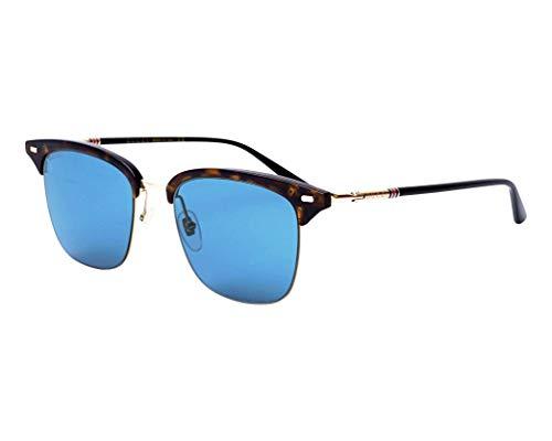 Gucci Sonnenbrillen (GG-0389-S 008) dunkel havana - matt gold - blaufarben