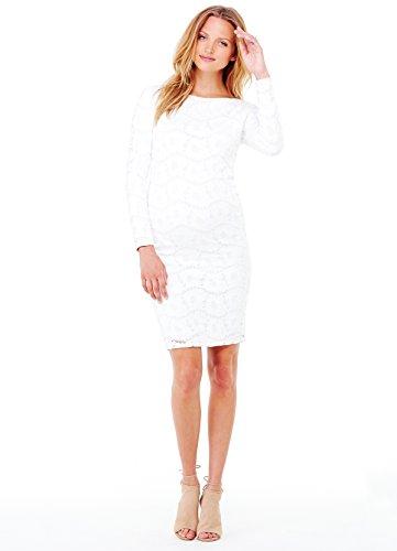 Ingrid & Isabel Damen Umstandskleid Gr. XS , Winter-Weiß (Womens Boatneck Kleid)