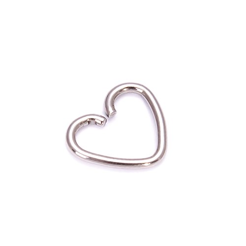 Surgical Steel Heart Ring Hoop Helix Cartilage Tragus Daith Earring
