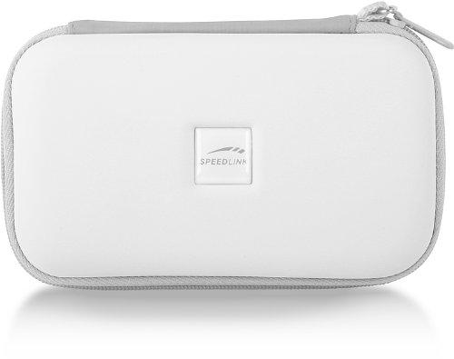 Speedlink Caddy Tasche zur Aufbewahrung des Nintendo DSi Lite (Hartschale mit Innenfächern und Reißverschluss) weiß