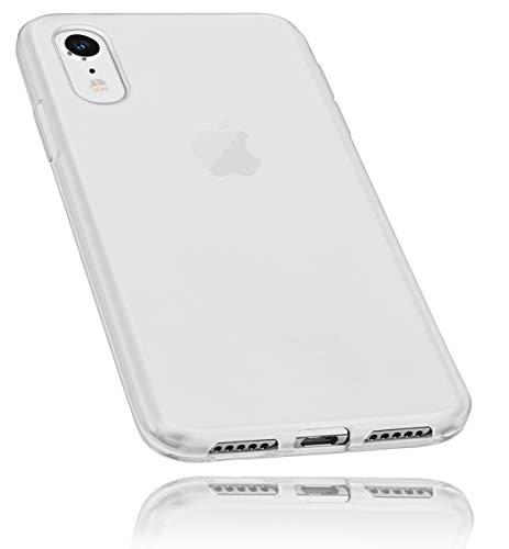 mumbi Schutzhülle kompatibel mit iPhone XR Hülle transparent weiss