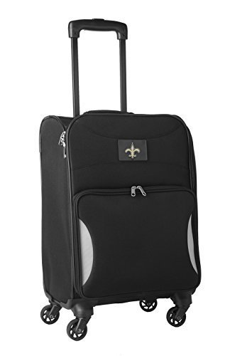 nfl-new-orleans-saints-lightweight-nimble-upright-carry-on-trolley-18-inch-black-by-nfl