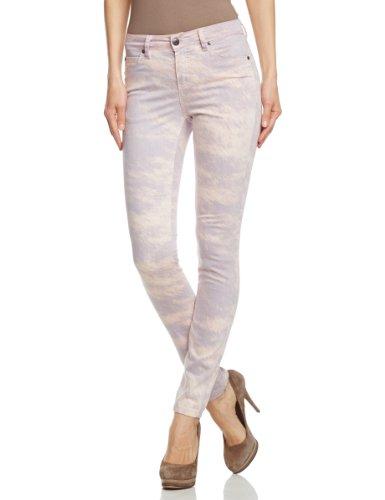SELECTED FEMME Damen Skinny Hose ANNIE MW PANT - ROSE SKY, Gr. 34 (Herstellergröße: 27), Mehrfarbig (White)