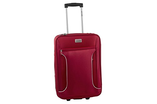 Valigia trolley semirigido PIERRE CARDIN rosso mini bagaglio a mano ryanair S268