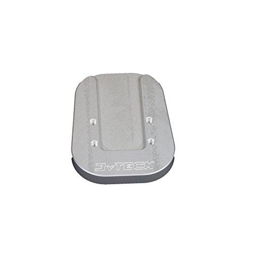 Placa ampliaccion caballete aluminio anodizado Silver