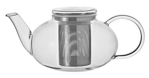 Leonardo Teekanne Moon, 1,2 l, hitzebeständiges Glas, Deckel und Edelstahl-Sieb abnehmbar, handmade, 070400