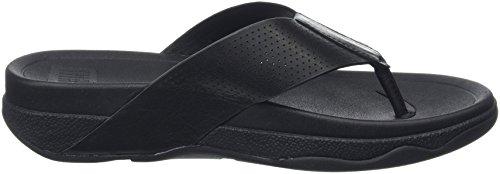 FitFlop Surfer Perf Leather, Sandales homme Noir - Noir