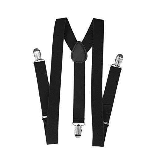 Togames-it bretelle regolabile pantaloni unisex con elastico bretella y-back nera y