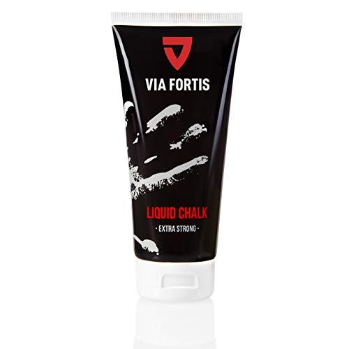 VIA FORTIS Liquid Chalk - Flüssigkreide für maximalen Grip beim Sport - Schnell trocknend, extrem ergiebig und lang haltend - Für Calisthenics, Bouldern, Klettern, Crossfit UVM.