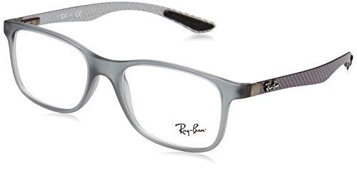 Rayban Herren Brillengestell RX8903, Grau (Matte Transparente Grey), 53