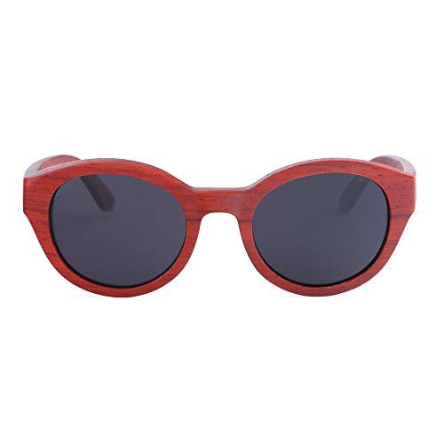 Zbertx Neue rote hölzerne hölzerne Sonnenbrille-Frauen hölzerne Sonnenbrillen für Damenbambus-Sonnenbrillen,schwarz