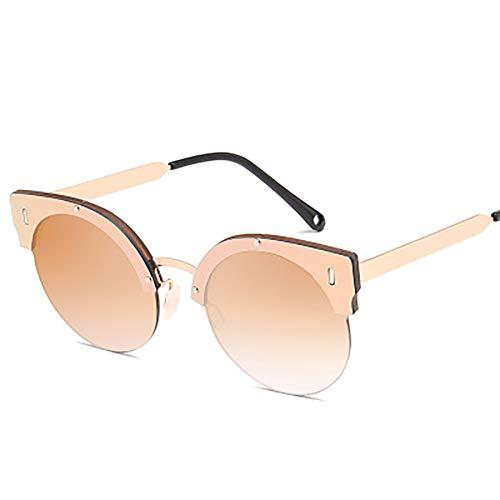 FYrainbow Katzenauge Sonnenbrille, UV-Schutz Lady Metal Sonnenbrille ist am besten für Angeln Golf Outdoor-Reisemöglichkeiten UV400,B