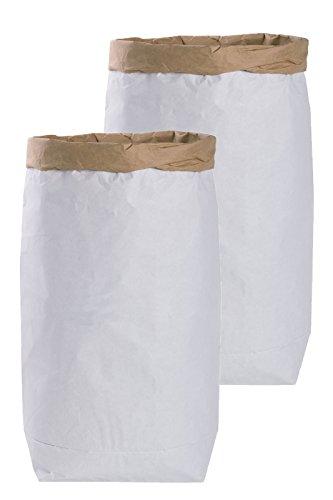 2x DIY Saco papel Paper Bag alrededor papel kraft