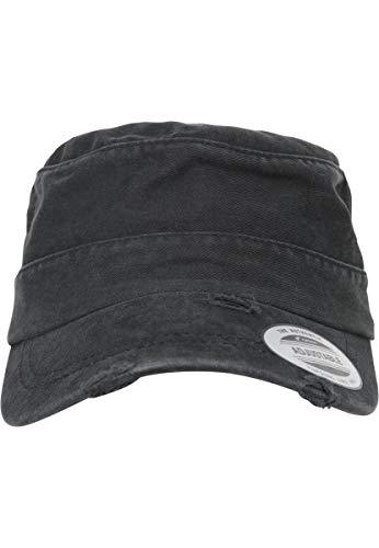 Flexfit Adjustable Top Gun Destroyed Cap, Black, one Size