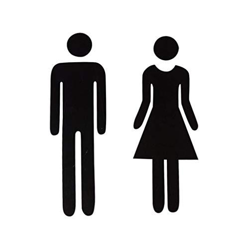 Zegeey 3D Spiegel Aufkleber Lustige WC Toilettentür Eingang Zeichen Männer Frauen Badezimmer DIY Wandaufkleber Aufkleber Bar Home Decor