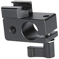 NICEYRIG 15 mm Rod Abrazadera con Adaptador de Montura de Zapata para cámara réflex Digital Monitor Led de Flash luz