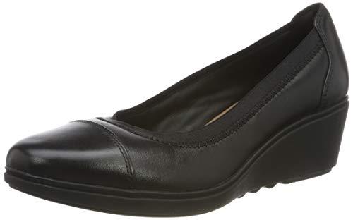 Clarks Un Tallara Liz, Mocasines para Mujer, Negro Black Leather Black Leather, 37 EU