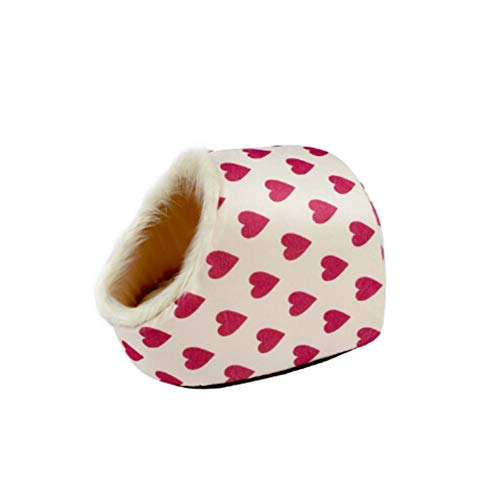 Pet House Für Welpen Katze Hund Leopard Gain/Zebry/Pfotenabdrücke/Pfirsich Herzen Muster 5 Möglichkeiten Hundebett Pet Produkt Fabrik 36 * 36 * 36 cm / 14 * 14 * 14 Inch, E ()
