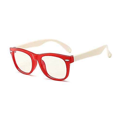 JXFS Anti-Blaulicht Brille für Kinder, Anti-Strahlung, gegen Ermüdung der Augen, UV-Computer, klare Gläser